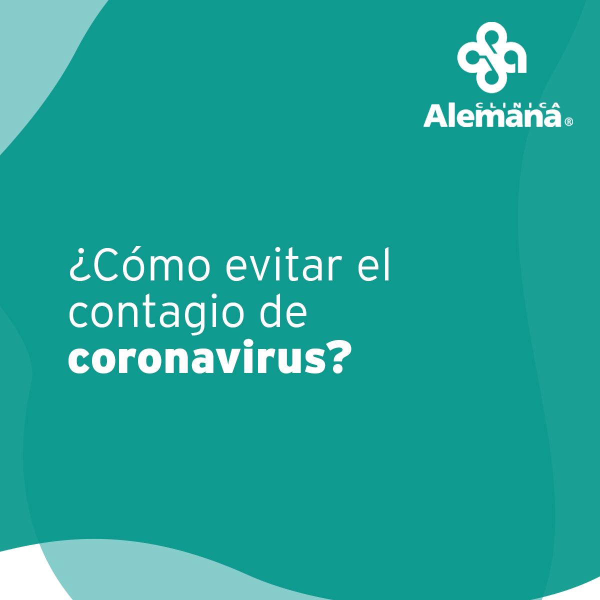 Portada sobre cómo evitar el contagio de coronavirus