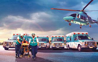 Foto de Ambulancia y Helicóptero del Rescate Clínica Alemana