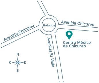 Ubicación Clínica Alemana de Chicureo