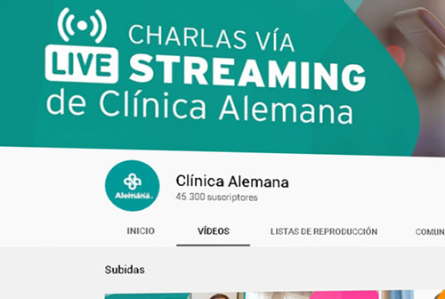 Canal Youtube Clinica Alemana