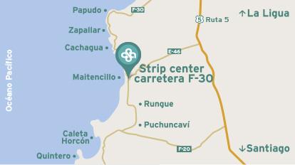 Mapa ubicación Centro Atencion Medica Maitencillo Clínica Alemana