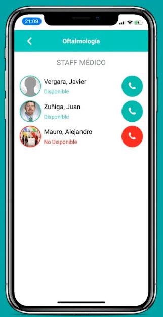 App telemedicina selección medico