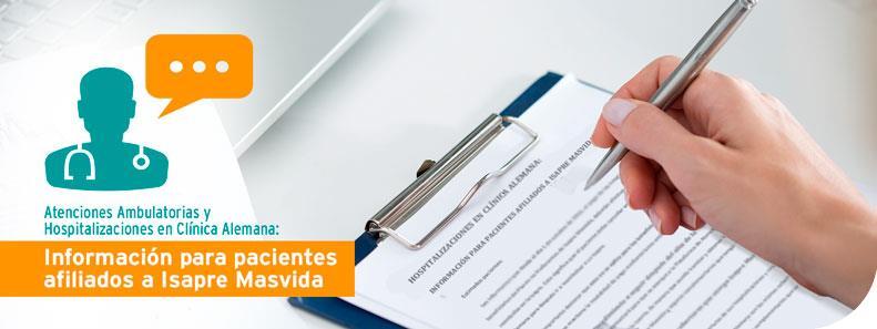 Información para pacientes afiliados a Isapre Masvida