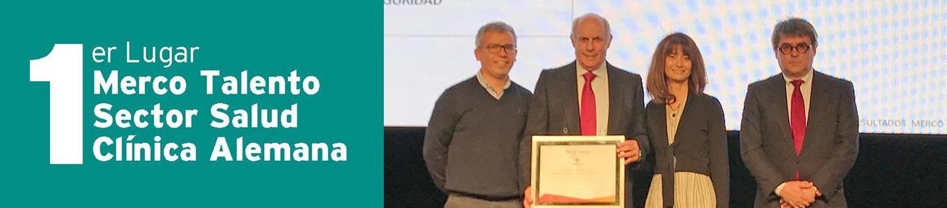 Clínica Alemana obtuvo primer lugar en Merco Talento sector Salud