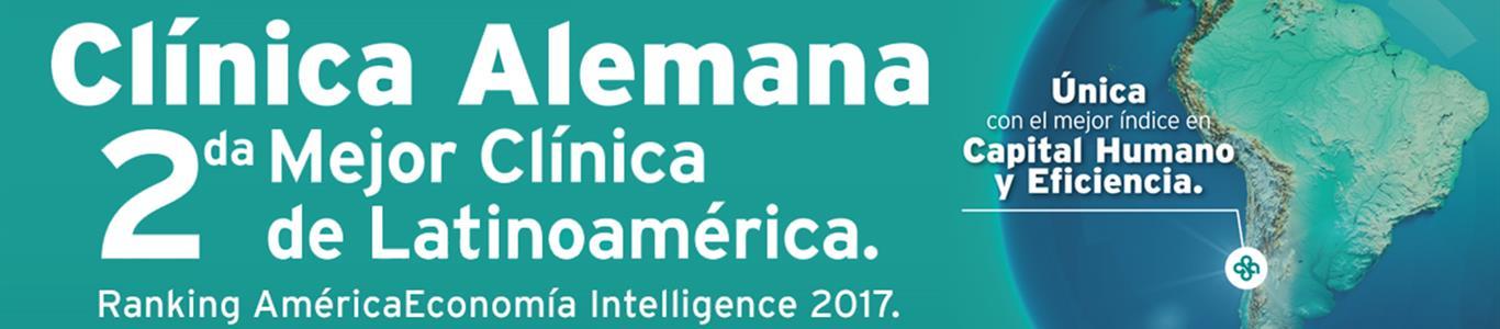 Clínica Alemana es reconocida como la segunda mejor de Latinoamérica
