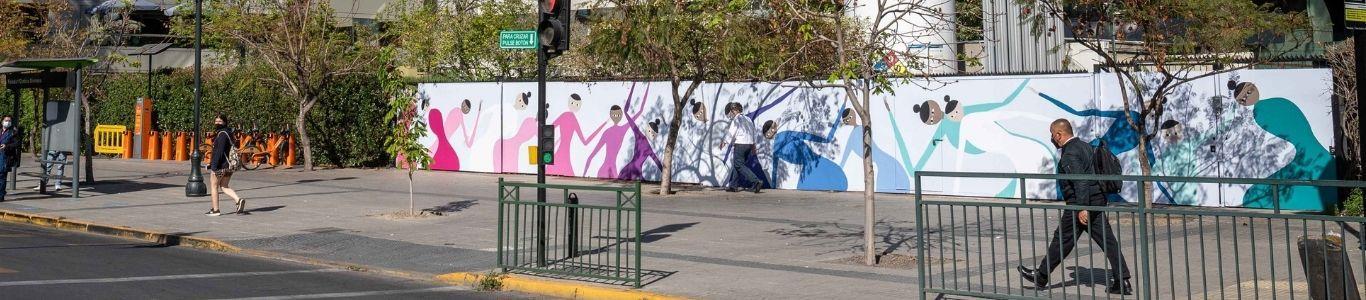 El Arte de Sanar: Murales de agradecimiento al personal de salud