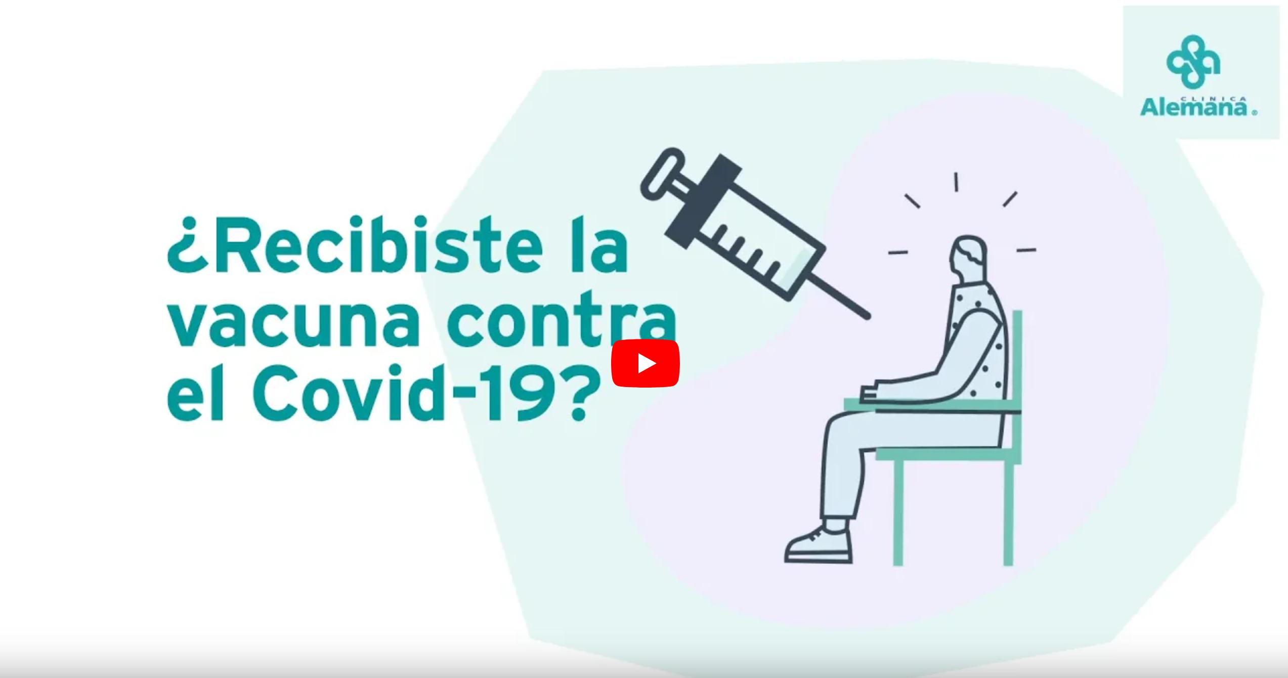 revisa el video y aprende si recibiste la vacuna en clínica alemana